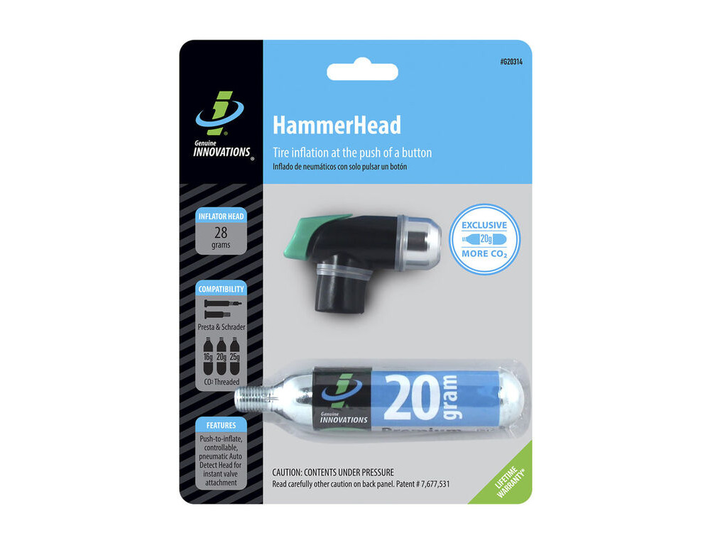 GENUINE INNOVATIONS INC Hammerhead CO2 Inflator click to zoom image