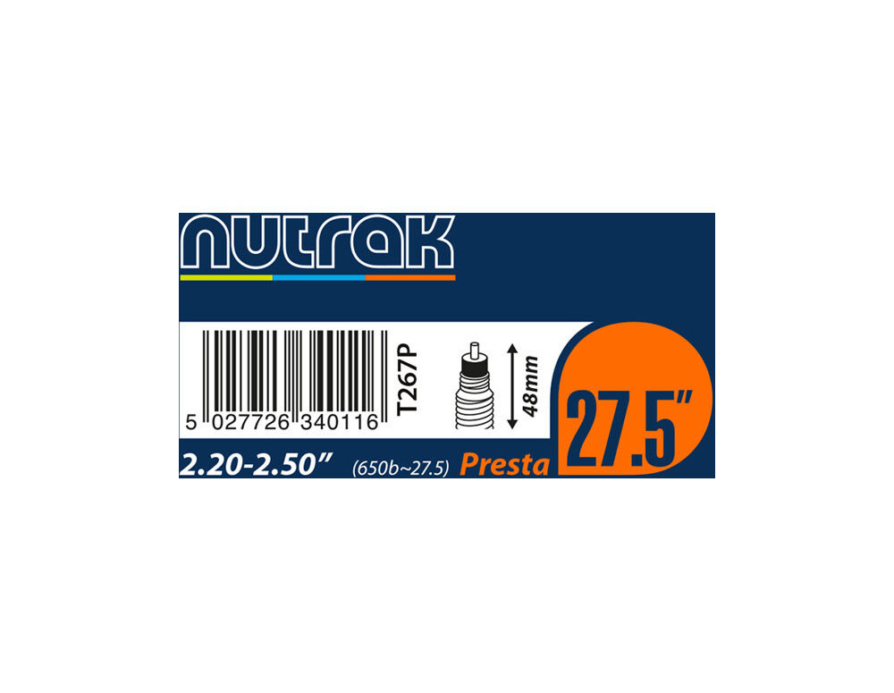 "NUTRAK 26x4.0 - 4.3"""" Presta 1.3 mm butyl click to zoom image"