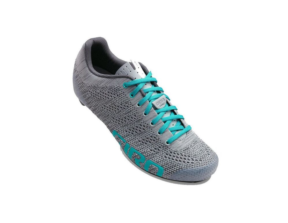 GIRO Empire E70 Knit Women's Road Cycling Shoes Grey/Glacier click to zoom image