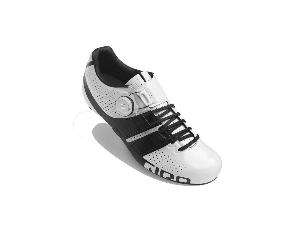 GIRO Factress Techlace Women's Road Cycling Shoes White/Black click to zoom image