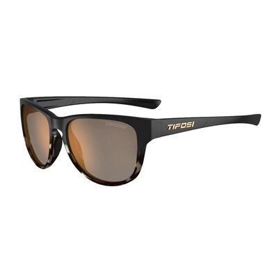 TIFOSI Smoove Polarised Single Lens Eyewear 2019 Satin Black Java Fade/Polarised Brown
