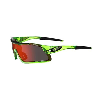 TIFOSI Davos Interchangeable Clarion Red Lens Eyewear 2019 Crystal Neon Green/Red Clarion