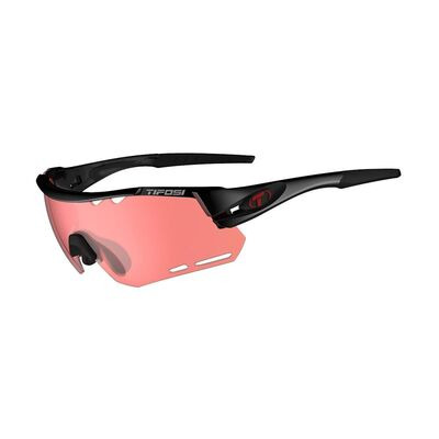 TIFOSI Alliant Enliven Bike Red Lens Sunglasses Crystal Black/Enliven Bike Red