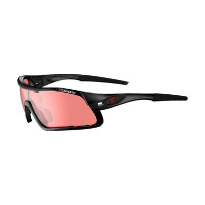 TIFOSI Davos Enliven Bike Red Lens Sunglasses Crystal Black/Enliven Bike Red