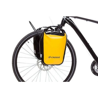 CROSSO Dry 30L Panniers Klickfix  Yellow  click to zoom image
