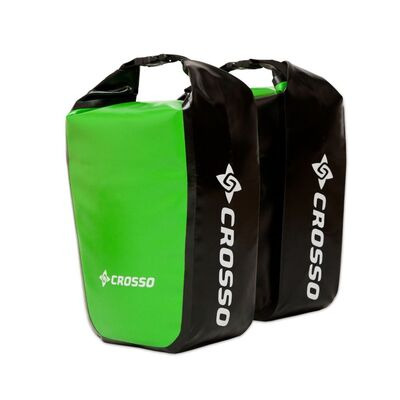 CROSSO Dry 30L Panniers Klickfix  Light Green  click to zoom image