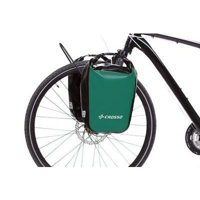 CROSSO Dry 30L Panniers Klickfix  Green  click to zoom image