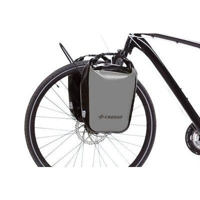 CROSSO Dry 30L Panniers Klickfix  Silver  click to zoom image