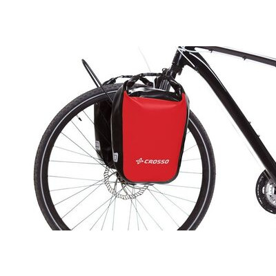 CROSSO Dry 30L Panniers Klickfix  Red  click to zoom image