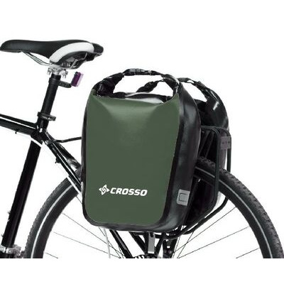 CROSSO Dry 30L Panniers Klickfix  Olive  click to zoom image