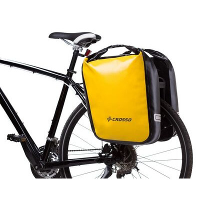 CROSSO Dry 60L Panniers Klickfix  Yellow  click to zoom image