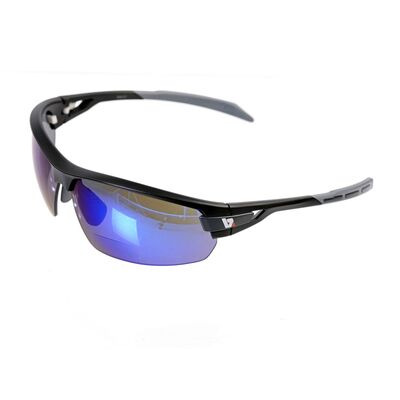 BZ OPTICS PHO Bi-Focal Blue Mirror Glasses Matt Black