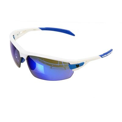 BZ OPTICS PHO Bi-Focal Blue Mirror Glasses White