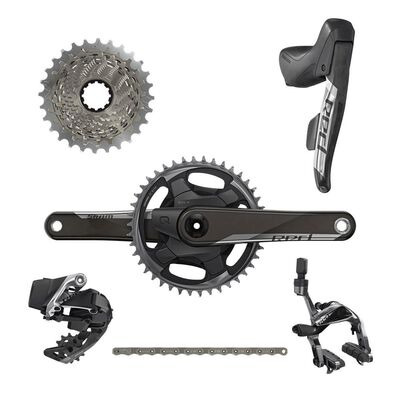 SRAM Red Etap AXS 1x D1 Electronic Road Groupset (Shifters, Rear Der And Battery, Charger And Cord, And Quick Start Guide)