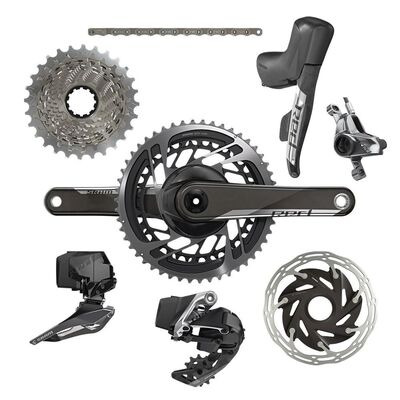 SRAM Red Etap AXS 2x D1 Electronic Hrd Groupset (Shift/Hyd Disc Brake Sj Hose Connected, Rear Der And Battery, Front Der And Battery, Charger And Cord, And Quick Start Guide)