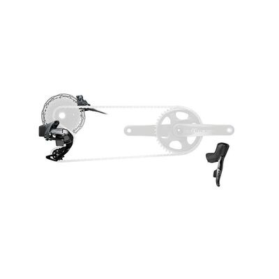 SRAM Force Etap Axs 1x D1 Electronic Flatmount Hrd Groupset (Shift/Hyd Disc Brake Sj Hose Connected, Rear Der And Battery, 160 Rotors Clx, Charger And Cord, And Quick Start Guide): Black