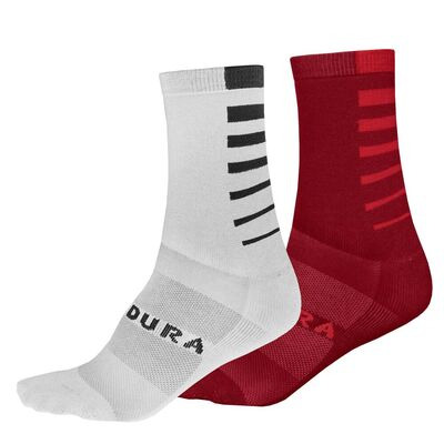 ENDURA Coolmax Stripe Socks Twin Pack