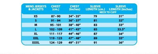 Altura cycling Jerseys size chart